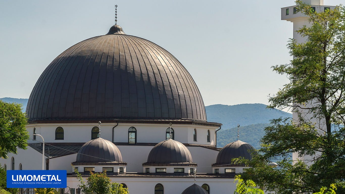 mosque in bosnia, copper dome roof